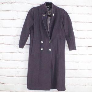 VTG Larry Levine Women's Purple Wool Coat Petite M
